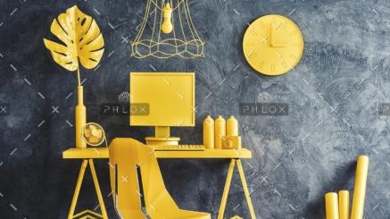 modern-yellow-workspace-interior-P6GN2J4